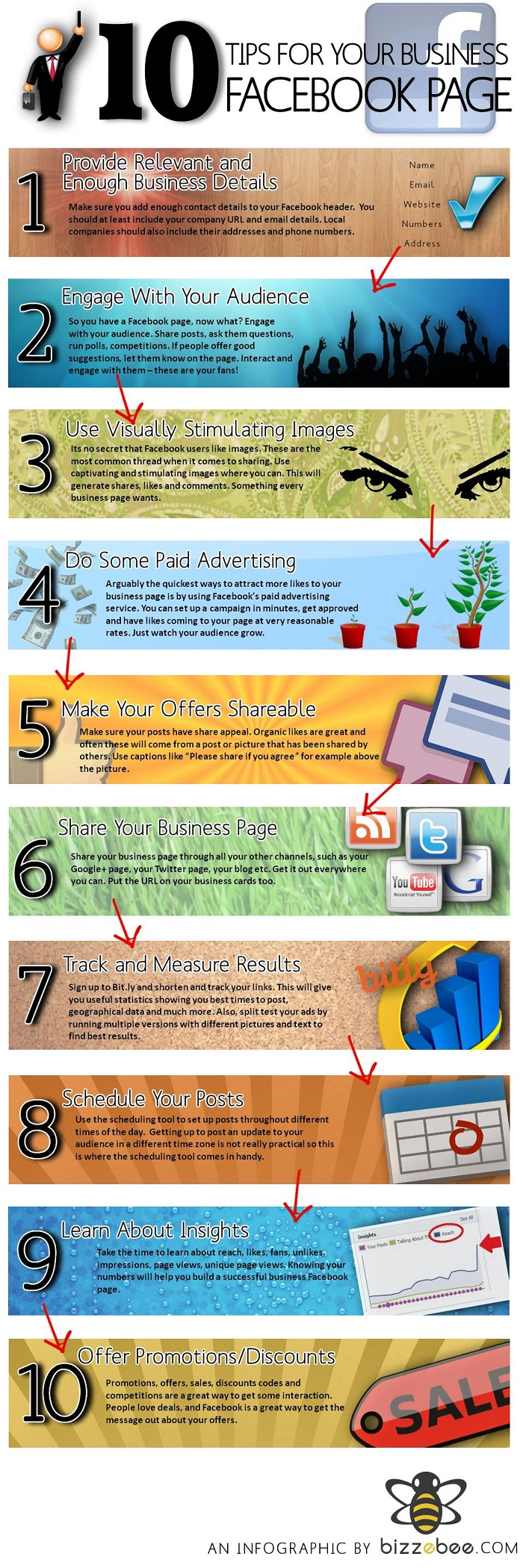 Facebook Tips Infographic