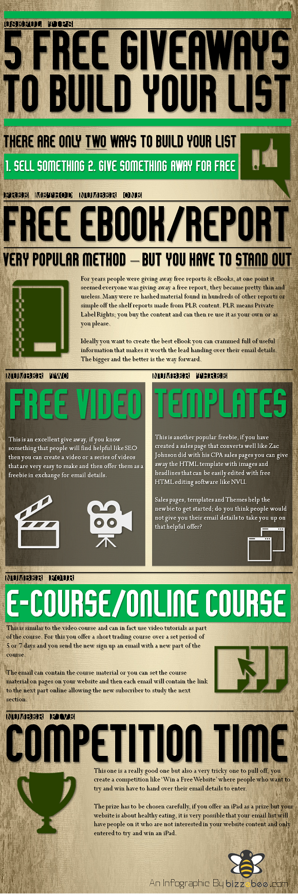 5 Free Giveaways Infographic