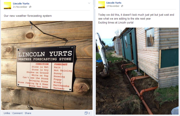 Lincoln Yurts News and Fun Updates