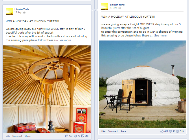Lincoln Yurts Win A Holiday