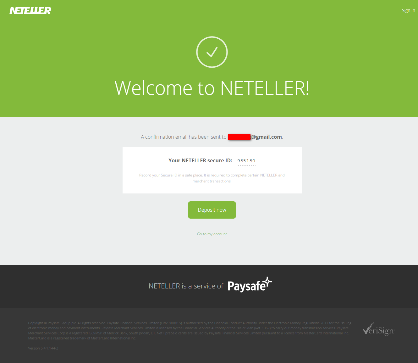 NETELLER Account- » Join for free