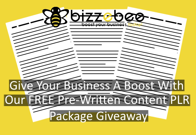 Give Your Business A Boost With Our FREE Pre-Written Content PLR Package Giveaway